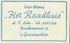 GRP-1 Café Slijterij Het Raadhuis , 's-Gravenpolder