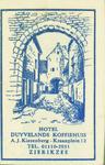 ZIE-12 Hotel Duyvelands Koffiehuis, Zierikzee