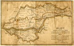 1044 Een overzichtskaartje van het arrondissement Tiel, waaronder behorende de Bommelerwaard, de Tielerwaard en een ...