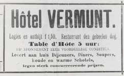 M 9981 Advertentie hotel Vermunt