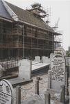 0690-3965 Noord gevel in de steigers tijdens de restauratie.