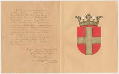 5300 Diploma verleend door de Hoge raad van Adel van het wapen van de gemeente Lienden
