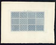 8246 De voorstelling op dit borduurpatroon bestaat uit drie maal vier rechthoeken met een gestileerd of geometrisch ...