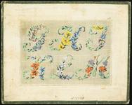6303 De voorstelling op dit borduurpatroon bestaat uit een gedeelte van een alfabet: G t/m M. Elke letter met ...