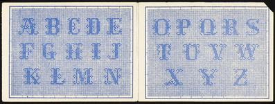 7360 De voorstelling op deze borduurpatroontjes op zes keer twee bladzijden leporello, zijn alfabetten en (kleine) ...
