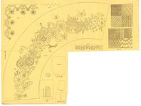 8160 Dit borduurpatroon bevat zes patronen voor vrij borduurwerk, 15 november 1840