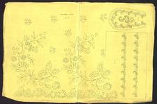 8161 Dit borduurpatroon bevat drie patronen voor vrij borduurwerk, 15 november 1840