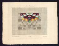 8163 De voorstelling op dit borduurpatroon bestaat uit een rechthoekig motief met geometrische motiefjes in allerlei ...