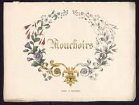 8164 De voorstelling op dit borduurpatroon bestaat uit een motief voor zakdoeken: een krans met verschillende bloemen: ...