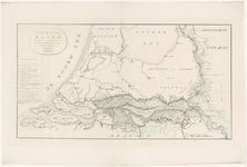 63 Een overzichtskaart van het Rivierengebied met de de Waal, de Rijn, de Maas, de IJssel, de Merwede en de Lek. De ...