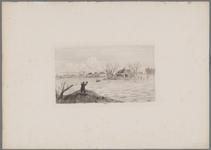 B100064 Dijkdoorbraak bij Poederoijen [Gezigt op de doorbraak in den Maasdijk te Poederoijen, 10 maart]