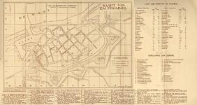3503-Br-425 Stadsplattegrond met lijst van straatnamen en bijzondere gebouwen