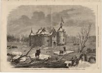 3503-Br-3320 Inondation en Hollande; le chateau Ammerzode, dans le Bommelerwoard, province de Gueldre, ayant servi de ...