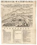 B100117 Kaart van de watersnood van 1740-1741 in het rivierengebied, met legenda