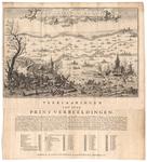 C100233 Kaart van de watersnood in het Gelders rivierengebied, met uitleg en legenda