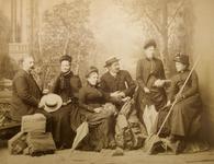 22-8972 Groepsfoto met van links naar rechts: ds. Cornelis Hooijer (1802-1873), zijn echtgenote Cornelia ('Keetje') ...