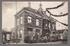 0464 Versierd Raadhuis te Aarlanderveen 13 mei 1909, 1900-1910