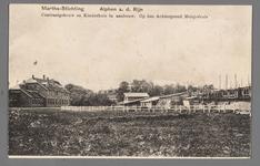 0591 Martha-Stichting, Alphen a. d. Rijn. Centraalgebouw en Kinderhuis in aanbouw. Op den Achtergrond Meisjeshuis, 1910-1920