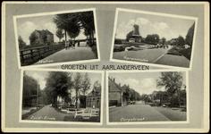 2227 Groeten uit Aarlanderveen. Station. Korenmolen. Zuid-Einde. Dorpstraat, 1924-1932