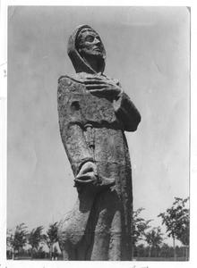 102138 Beeld van Franciscus van Assisi gemaakt door zuster Marie José van de Stad Gods te Hilversum