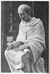 102154 Het voorbeeld van het Augustinusbeeld bij de opening van de kapel