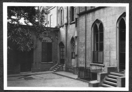 226096 Gevel grenzend aan de tweede tuin van klooster Mariënburg te Nijmegen