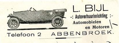 AB_BIJL_004 Abbenbroek, L. Bijl - L. Bijl, Autoverhuurinrichting / Automobielen en Motoren, (1929)