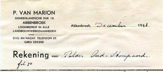 AB_MARION_001 Abbenbroek, P. van Marion - Loonbedrijf in alle landbouwwerkzaamheden, (1948)