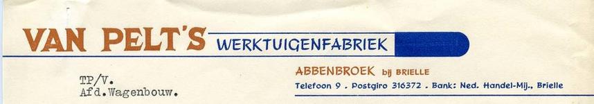 AB_PELT_001 Abbenbroek, Van Pelt's - Van Pelt's werktuigenfabriek / afd. wagenbouw, (1953)
