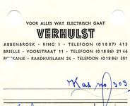 AB_VERHULST_002 Abbenbroek, Verhulst - Voor alles wat electrisch gaat, Verhulst, (1965)