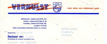 AB_VERHULST_004 Abbenbroek, Verhulst - Voor alles wat elektrisch gaat / erkende Philips service, (1969)