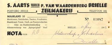 BR_AARTS_002 Brielle, S. Aarts voorheen P. van Waardenberg - Zeilmakerij - Markiezen, dekkleden, tenten, foudralen, ...