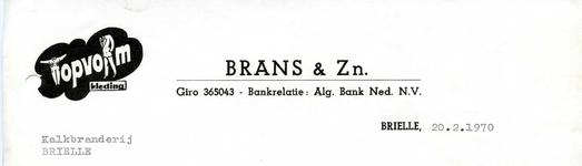 BR_BRANS_003 Brielle, Brans & Zn. - Brans & Zn. Heren- en Jongenskleding, manufacturen, depot: Palthe, (1970)