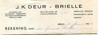 BR_DEUR_007 Brielle, J.K. Deur - J.K. Deur Brielle, uitvoering van: nieuwbouw, verbouwing, machinale houtbewerking, ...