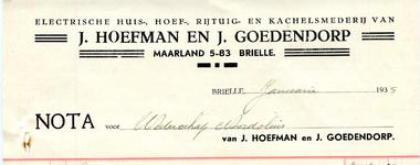 BR_HOEFMAN_002 Brielle, J. Hoefman en J. Goedendorp - J. Hoefman en J. Goedendorp, electrische huis-, hoef-, rijtuig- ...