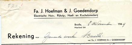 BR_HOEFMAN_003 Brielle, J. Hoefman & J. Goedendorp - Fa. J. Hoefman & J. Goedendorp, Electrische huis-, rijtuig-, hoef- ...