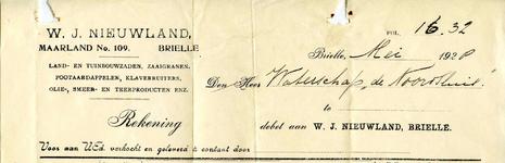 BR_NIEUWLAND_004 Brielle, Nieuwland - W.J. Nieuwland, Land- en tuinbouwzaden, zaaigranen, pootaardappelen, ...