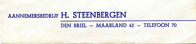 BR_STEENBERGEN_001 Brielle, Steenbergen - Aannemersbedrijf H. Steenbergen Den Briel