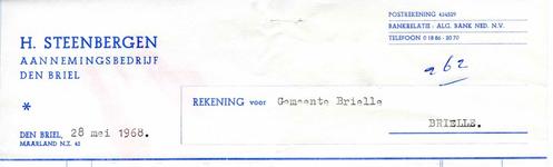 BR_STEENBERGEN_004 Brielle, Steenbergen - H. Steenbergen, Aannemingsbedrijf Den Briel, (1968)