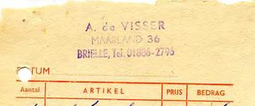 BR_VISSER_005 Brielle, Visser - A. de Visser