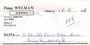 BR_WELMAN_007 Brielle, Welman - Firma Welman, slijterij Brielle, (1968)