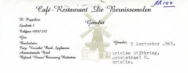 BR_BERNISSE_003 Geervliet, Bernisse Molen - Café-Restaurant De Bernissemolen Geervliet, (1964)