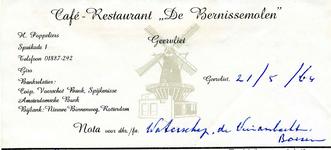 BR_BERNISSE_002 Geervliet, Bernisse Molen - Café-Restaurant De Bernissemolen Geervliet, (1965)