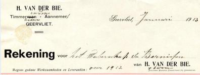 GE_BIE_001 Geervliet, Van der Bie - H. van der Bie en Zoon, Timmerlieden - Aannemers, (1913)