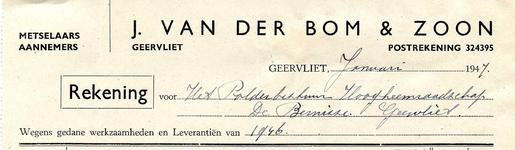 GE_BOM_001 Geervliet, Van der Bom - J. van der Bom & Zoon, metselaars/aannemers Geervliet, (1947)