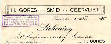 GE_GORES_002 Geervliet, Gores - H. Gores, Smid, Geervliet, (1935)