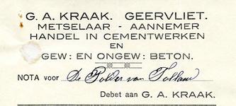 GA_KRAAK_002 Geervliet, Kraak - G.A. Kraak, Geervliet. Metselaar - Aannemer. Handel in cementwerken en gew. en ongew. ...