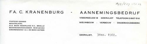 GE_KRANENBURG_001 Geervliet, Kranenburg - Fa. C. Kranenburg. Aannemingsbedrijf, (1968)