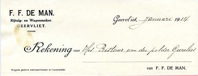 GE_MAN_001 Geervliet, De Man - F.F. de Man, Rijtuig- en wagenmaker, Geervliet, (1914)