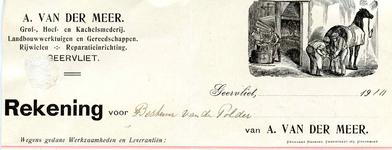 GE_MEER_001 Geervliet, Van der Meer - A. van der Meer, Grof-, hoef- en kachelsmederij. Landbouwwerktuigen en ...